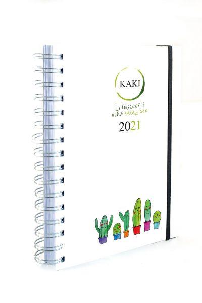 Agenda 2021 SETTIMANALE KAKI copertina morbida carta riciclata