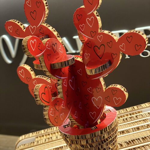Kactus.35 Puzzle Love Red