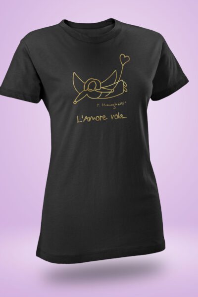 T-shirt donna L'Amore Vola... LIMITED GOLD
